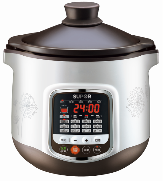 Chinese Thermostable Pottery Electric Double-stewed Soup Series