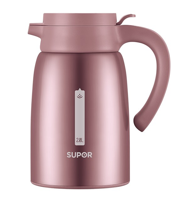 Vacuum Stainless Steel Jug· WOW Champagne Pink 2L