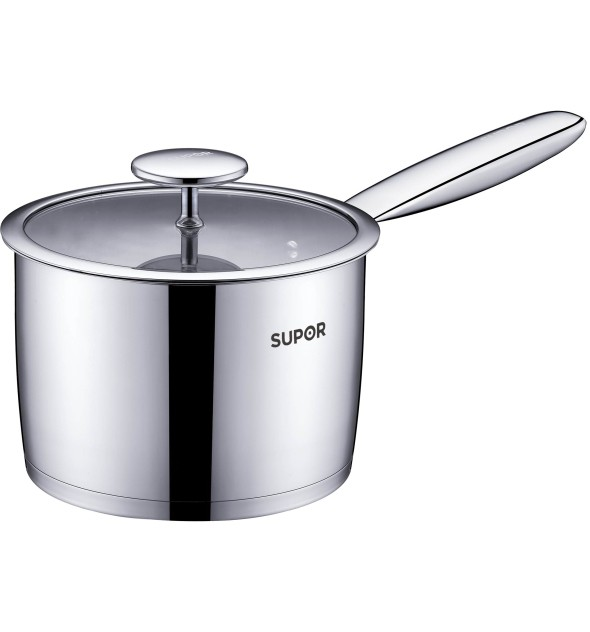 Elegant Stainless Steel Milk Pot